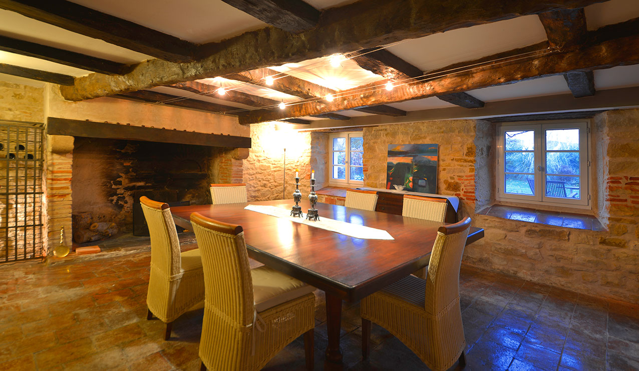 The Manor House basement dining room