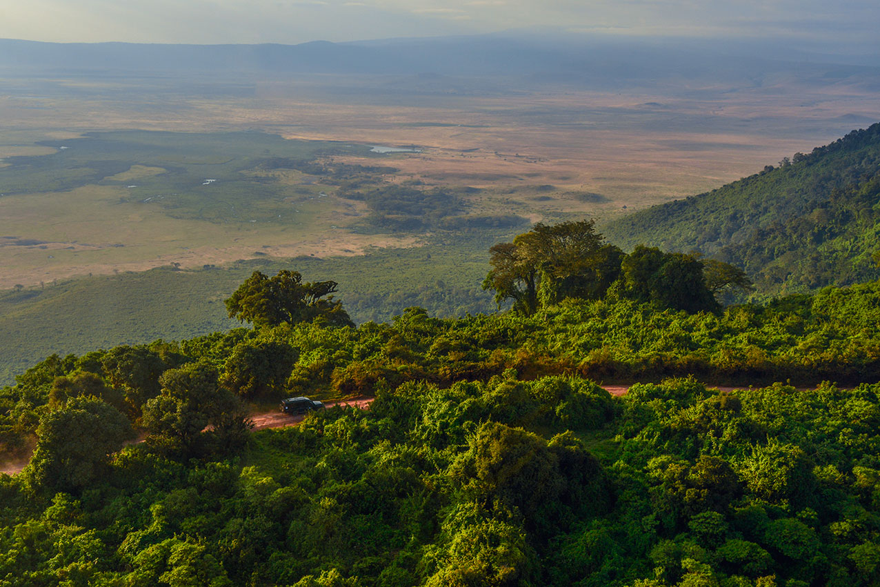 Ngorongoro crater rim road, Tanzania