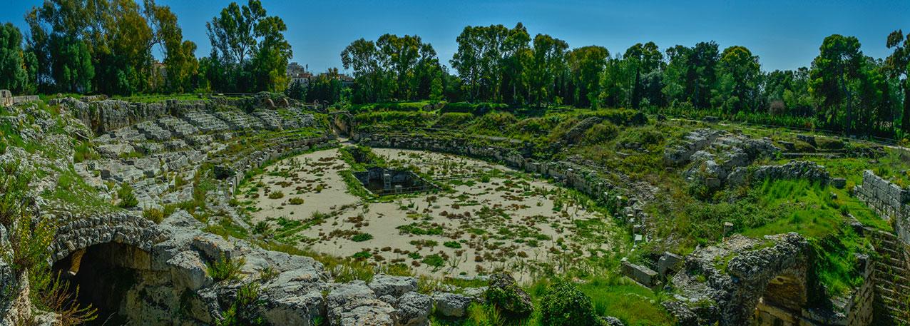 Roman theatre, Syracusa, Sicily