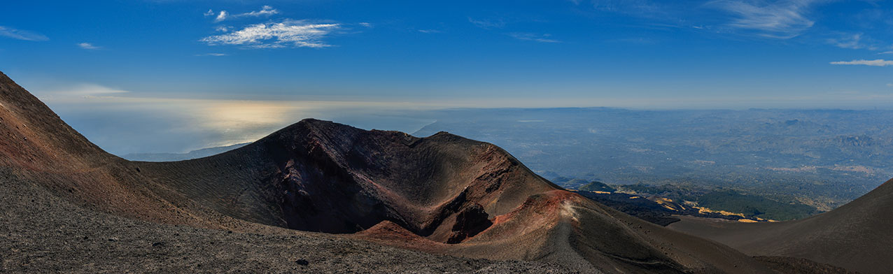 Panorama from Mt Etna, Sicily