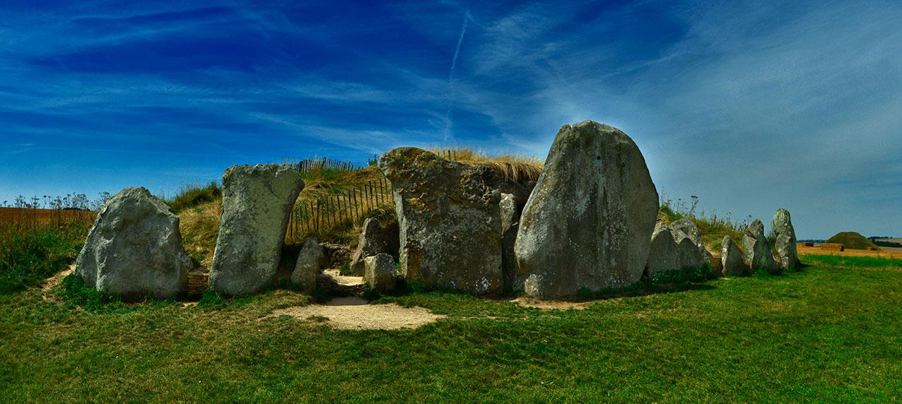 West Kennet Long Barrow, Wiltshire.