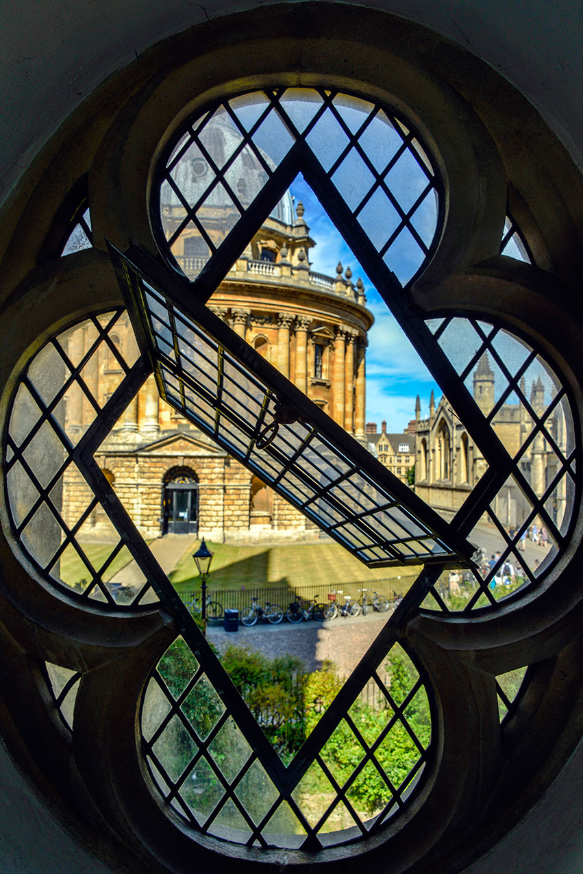 Radcliffe Camera seen from St Mary's church, Oxford.