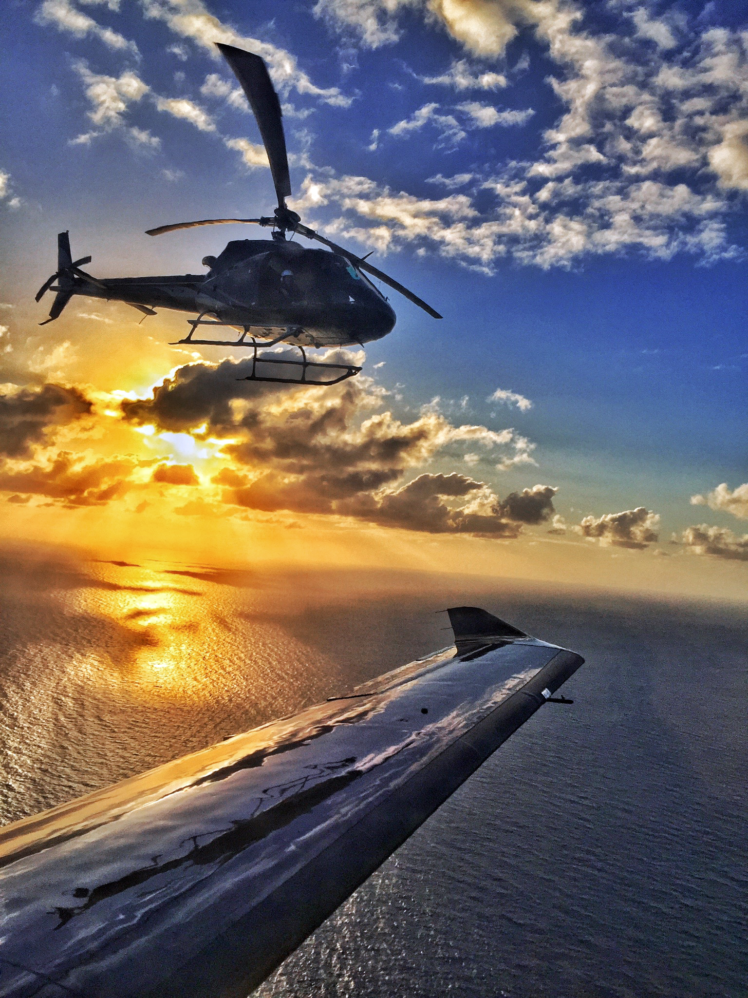 Jon and Davids AS350 helicopter, taken by Pilatus pilot Sebastian Lip