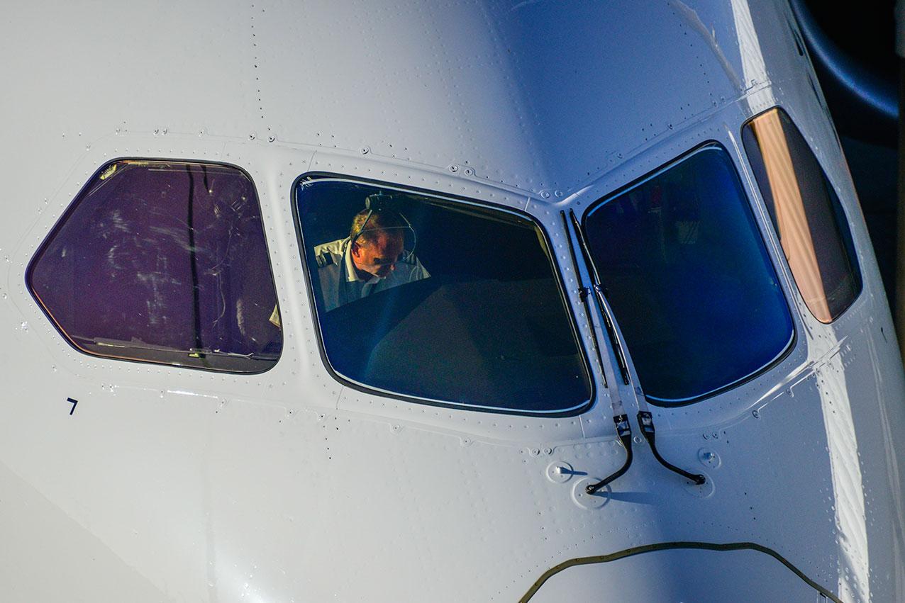 ANZ Boeing 787 flight deck