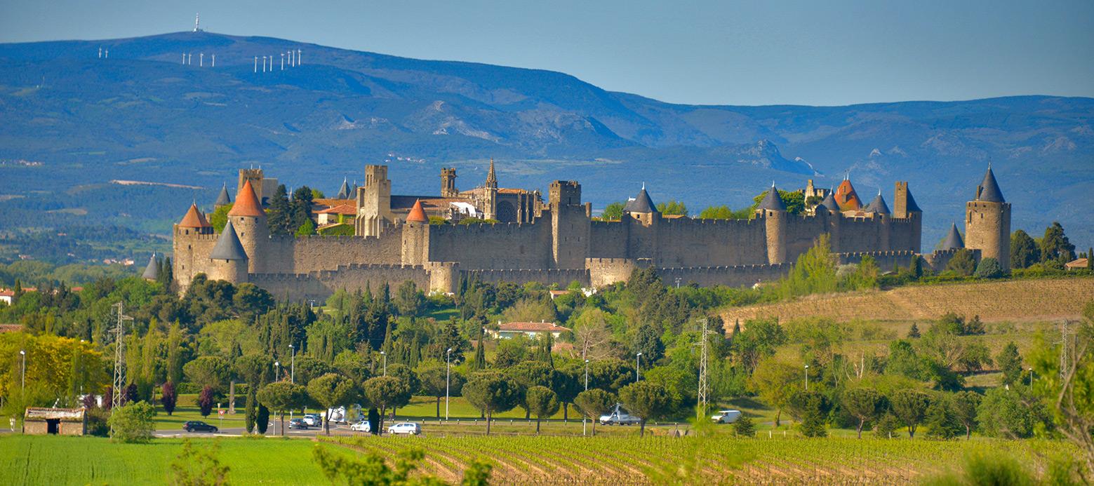 The imposing bulk of medieval Carcassonne