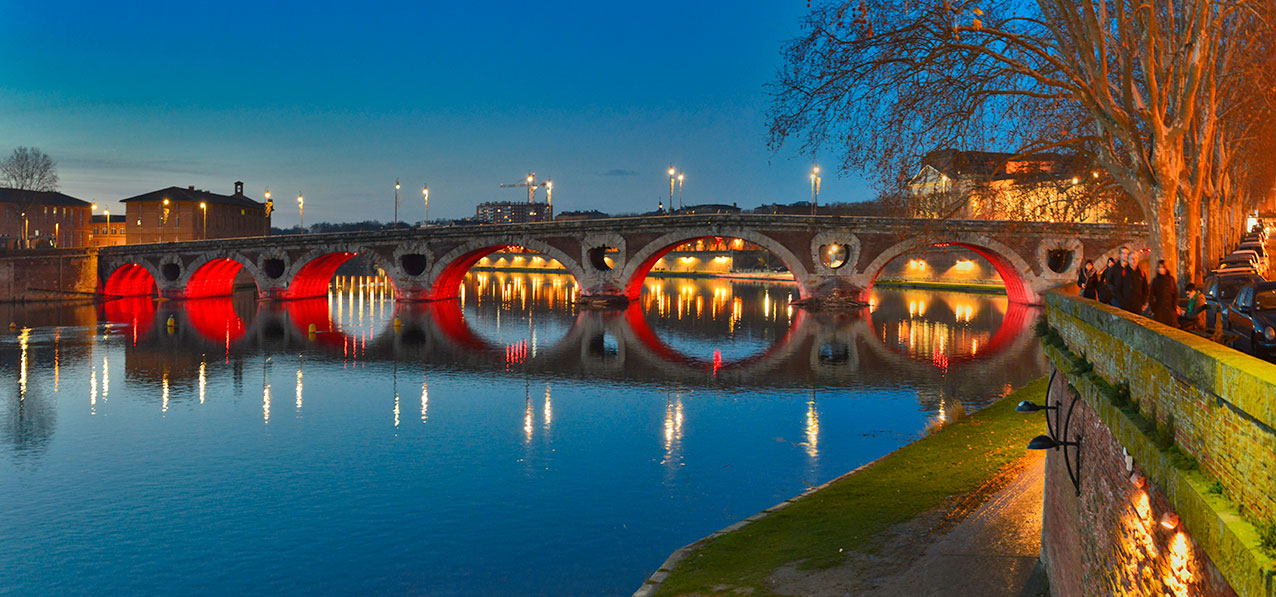 Toulouse and the river Garonne