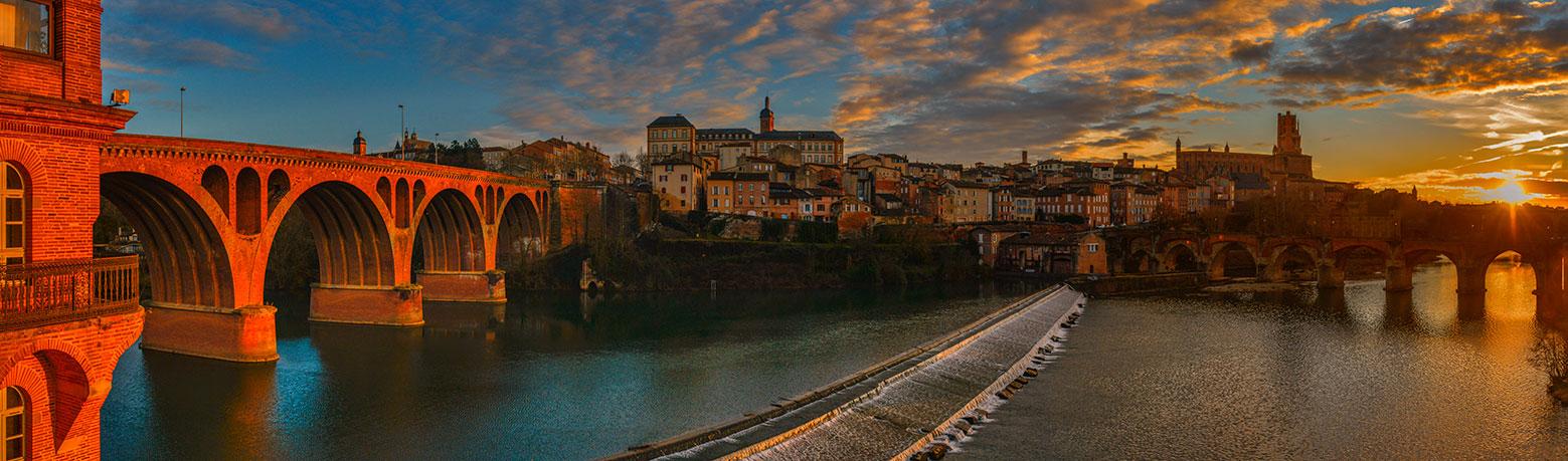 The river Tarn, Albi