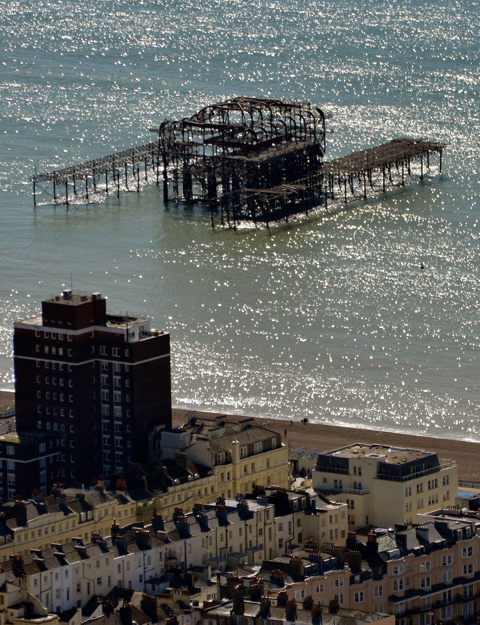 Ruined Pier, Brighton, UK