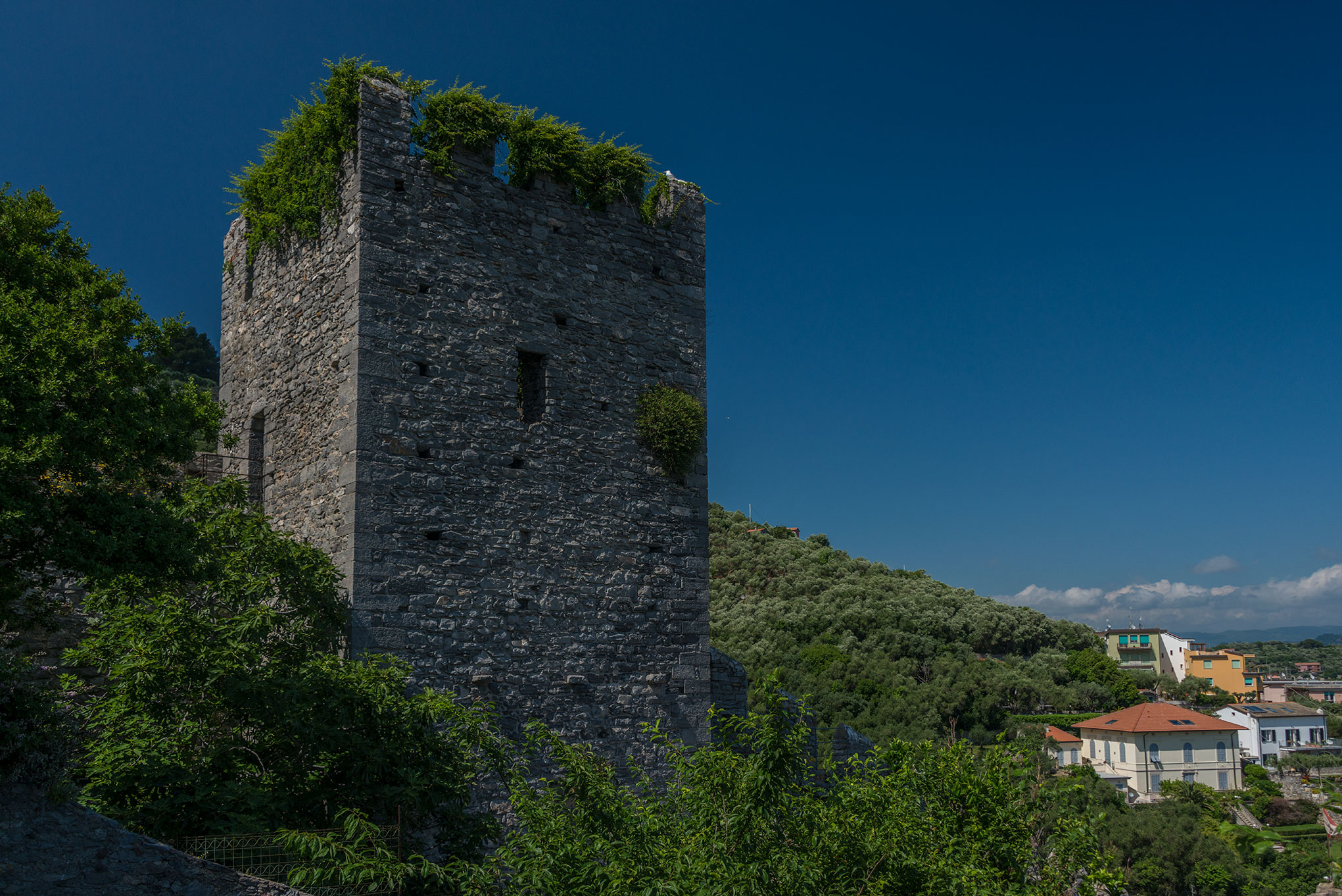 Part of the defensive walls at Porto Venere