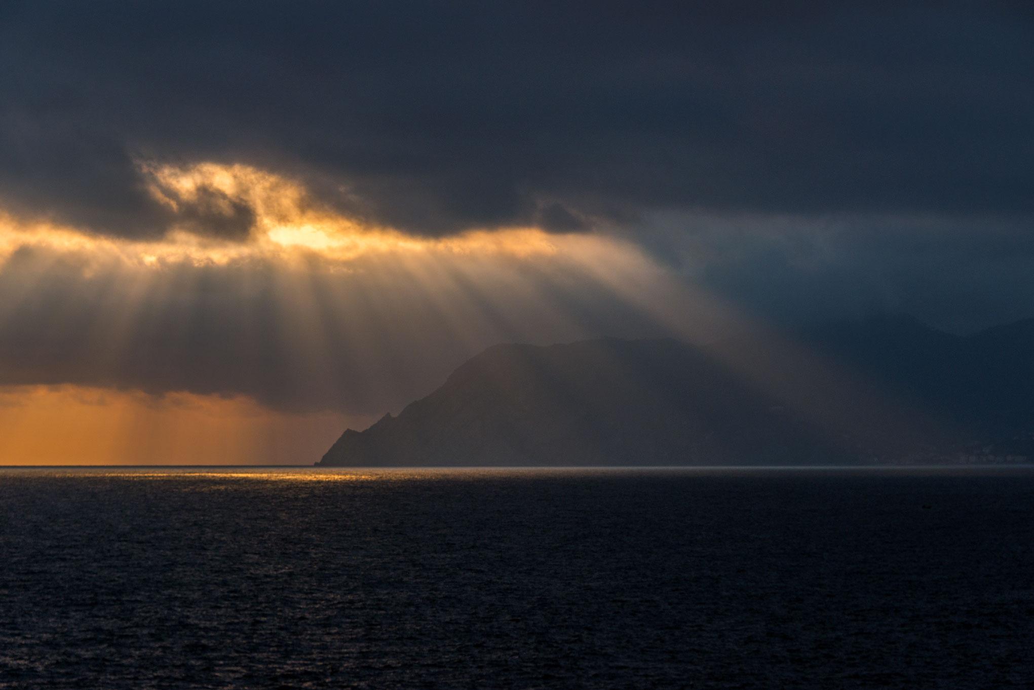 Sunset over Monterosso