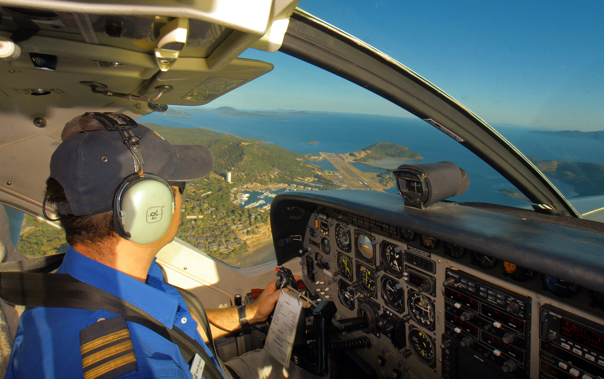 Banking for an approach to Hamilton Island in Queensland