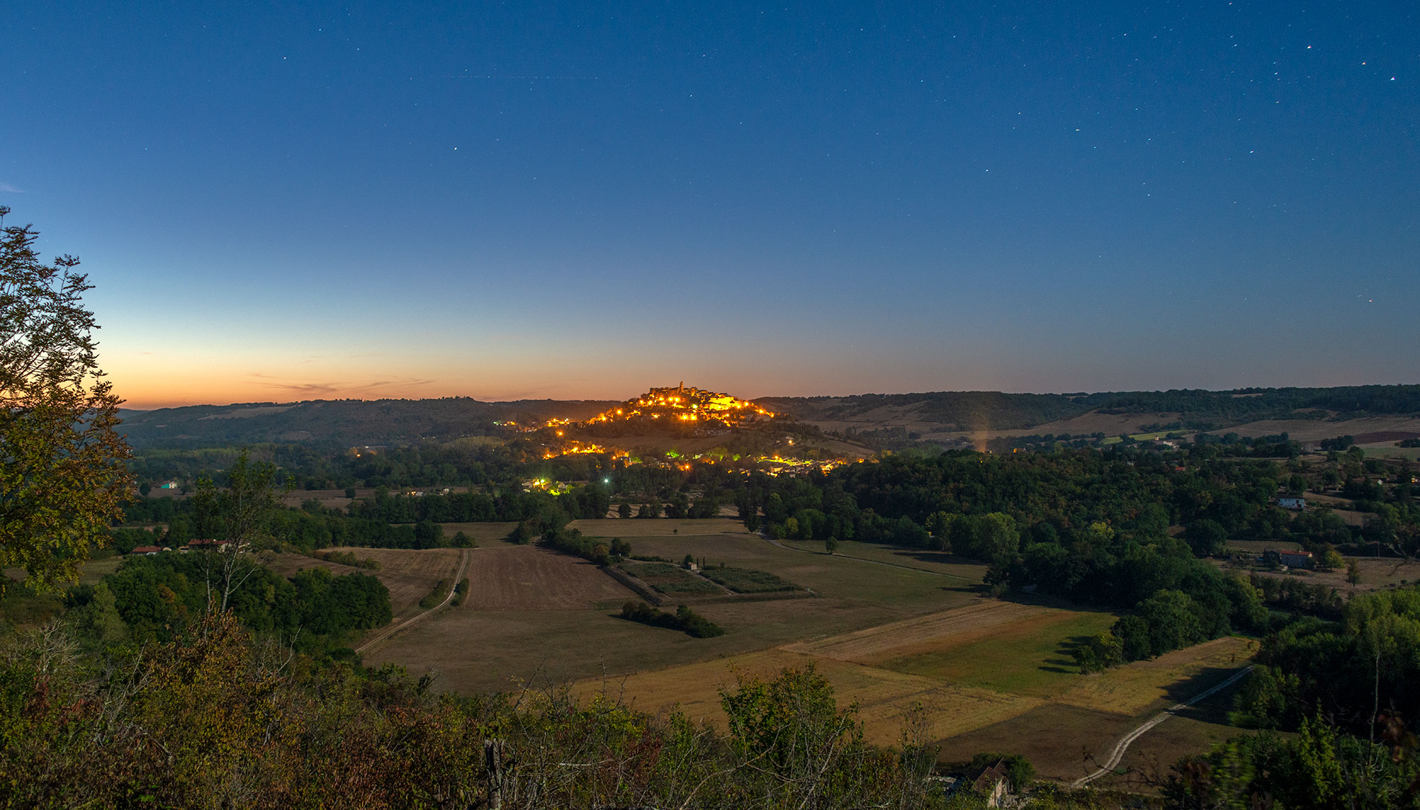 Cordes seen from La Vedillerie, 5:00am
