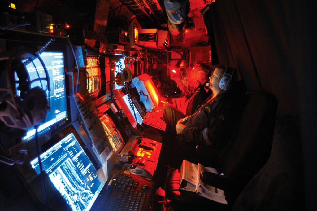 HMAS Rankin at sea - Sonar room
