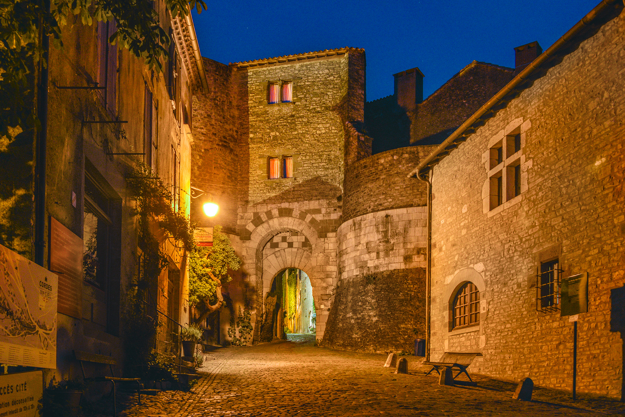 Porte des Ormeaux at twilight