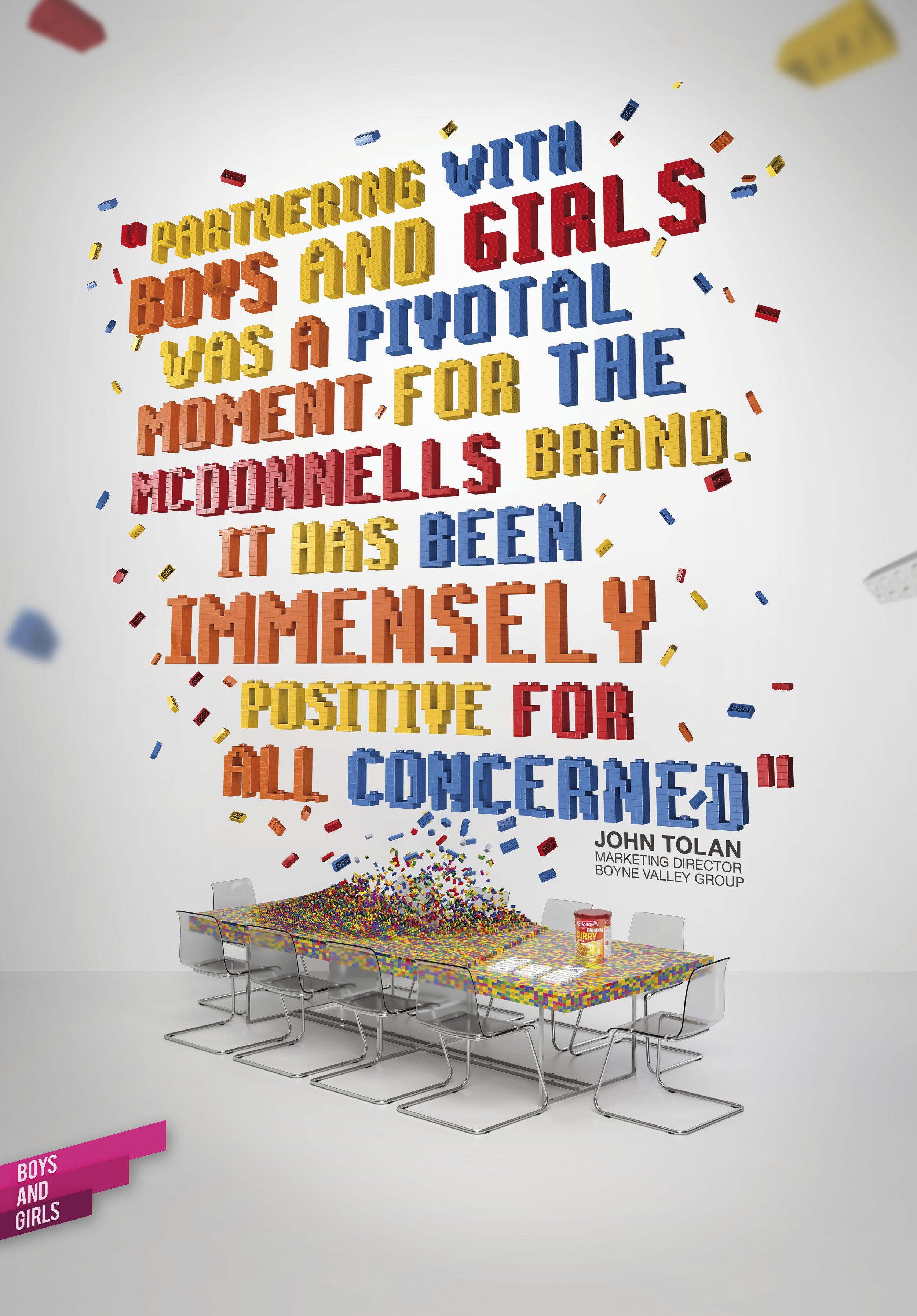 Boys and Girls Lego Ad