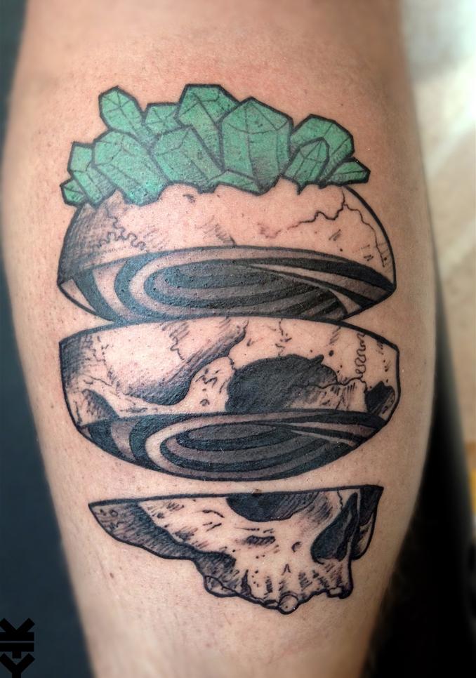 kreatyves_tattoo_Berlin_spiral_skull