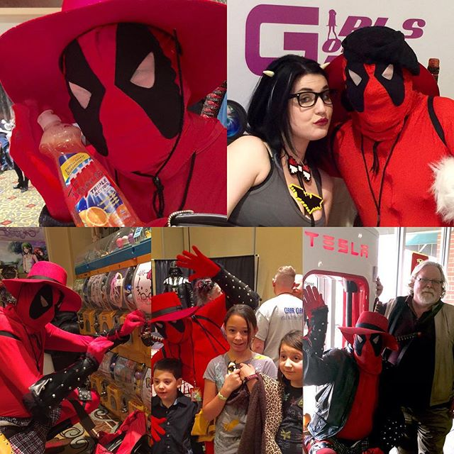 Deadpool having fun at GalaxyFest V
