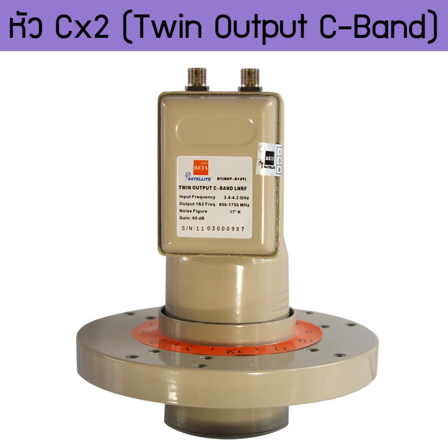 BETA C-2 C-Band Dual Polarity Twin Output LNBF