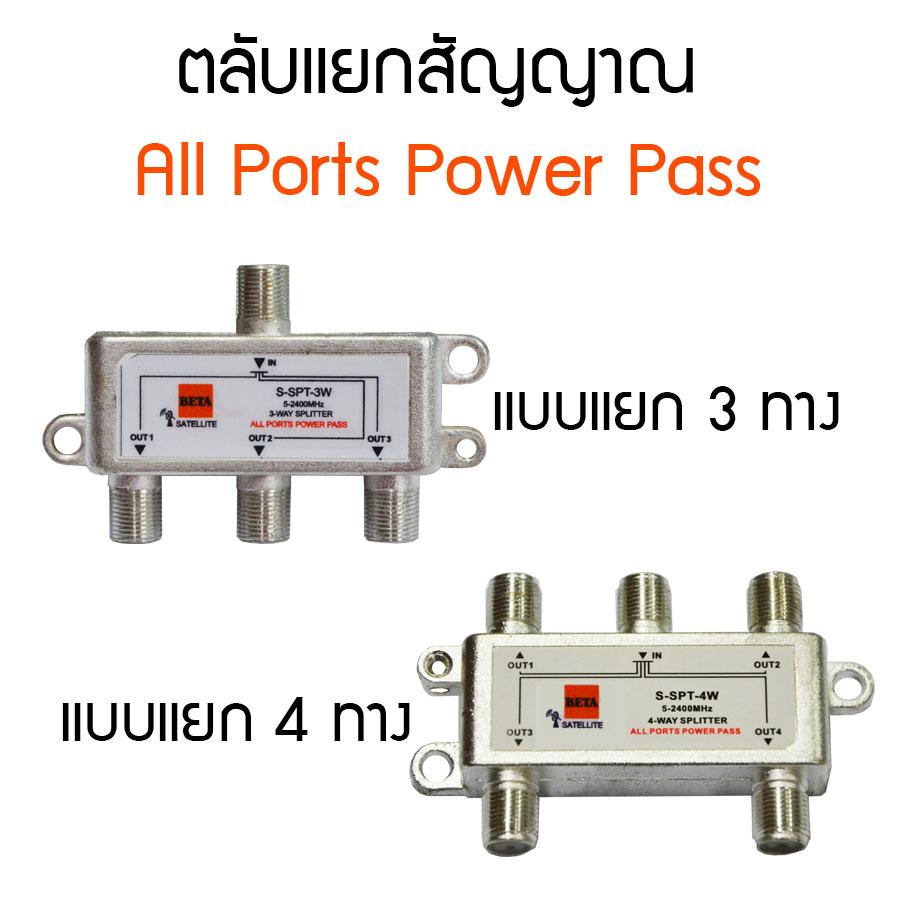 ตลับแยกสัญญาณแบบ All Ports Power Pass