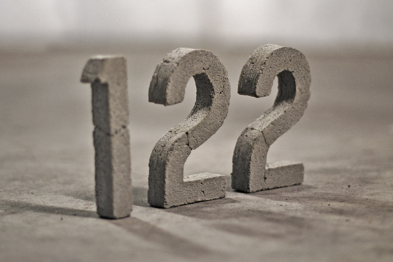 122 CONCRETE NUMBERS   Back in December of last year, I was freelancing at Local Peoples / Assemble Projects on the design of the website for their small-footprint living development 122 Roseneath St. Read the process diary for creating these concrete numbers. READ MORE