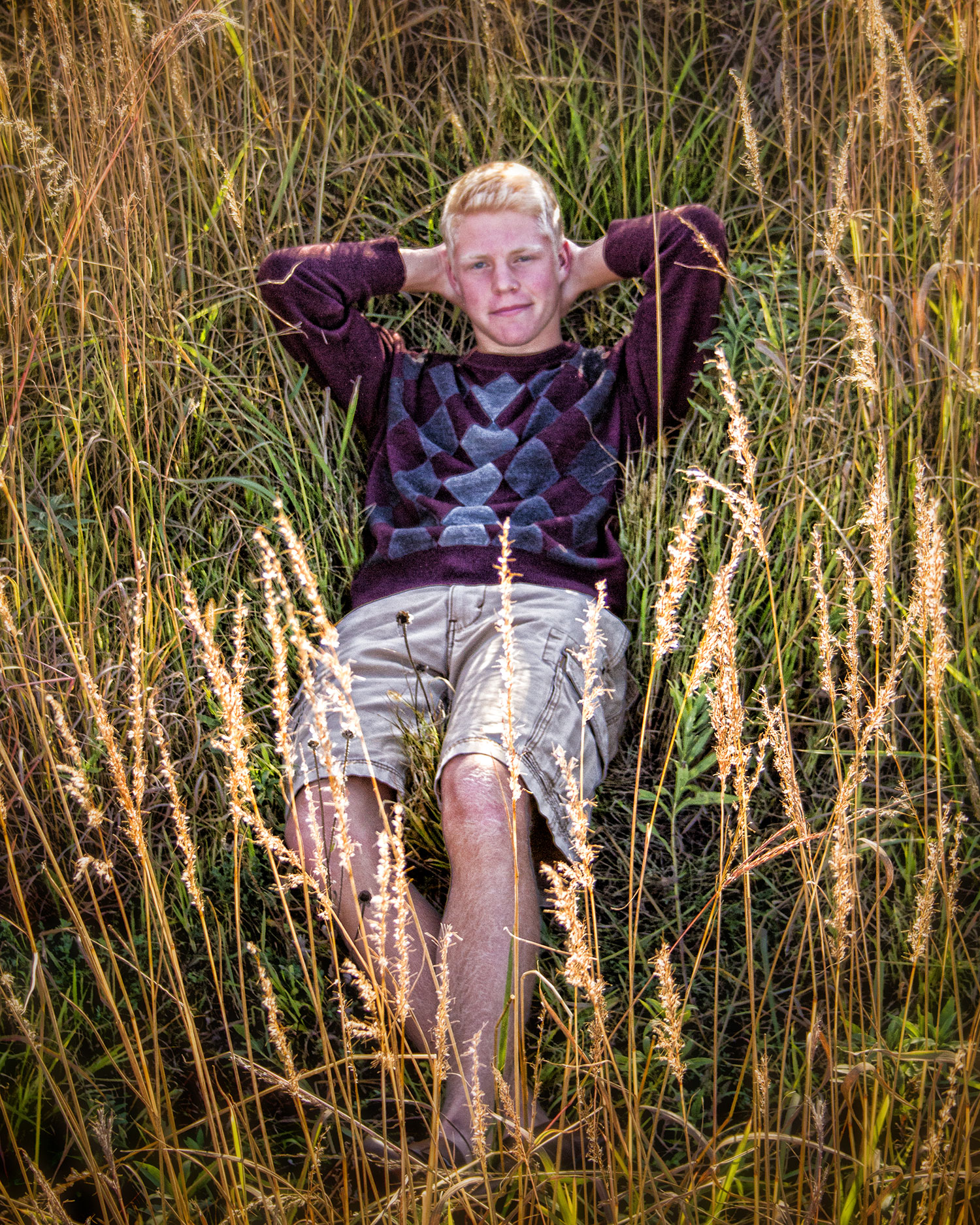 High School Senior in grass