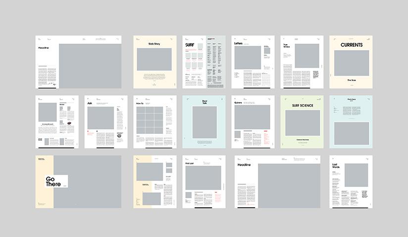 Modulación de las páginas interiores.