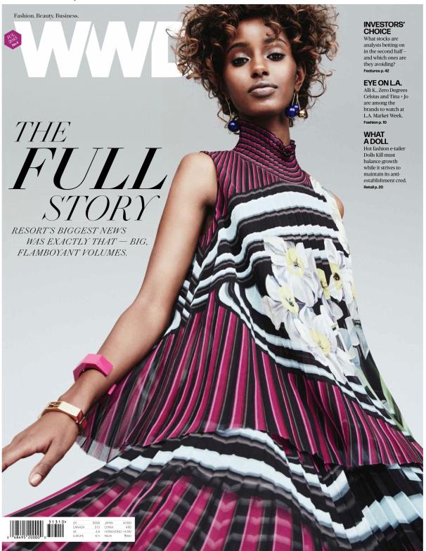Cover + fashion story WWD