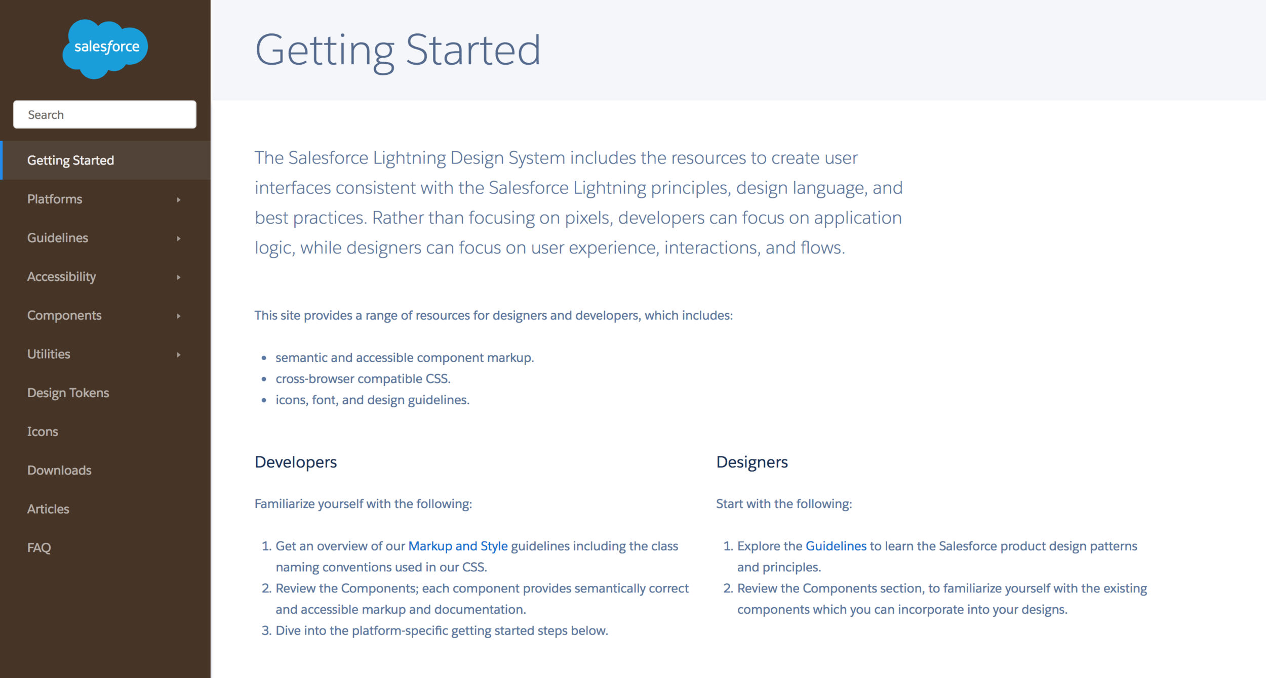 https://www.lightningdesignsystem.com/getting-started/