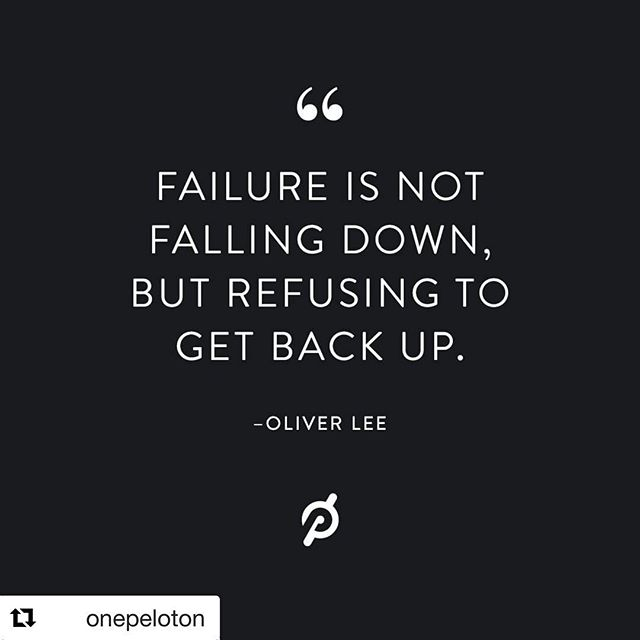Fall down seven times, get up eight.  #Repost @onepeloton with  @oliver__l reminds us to always get back up.  #onepeloton