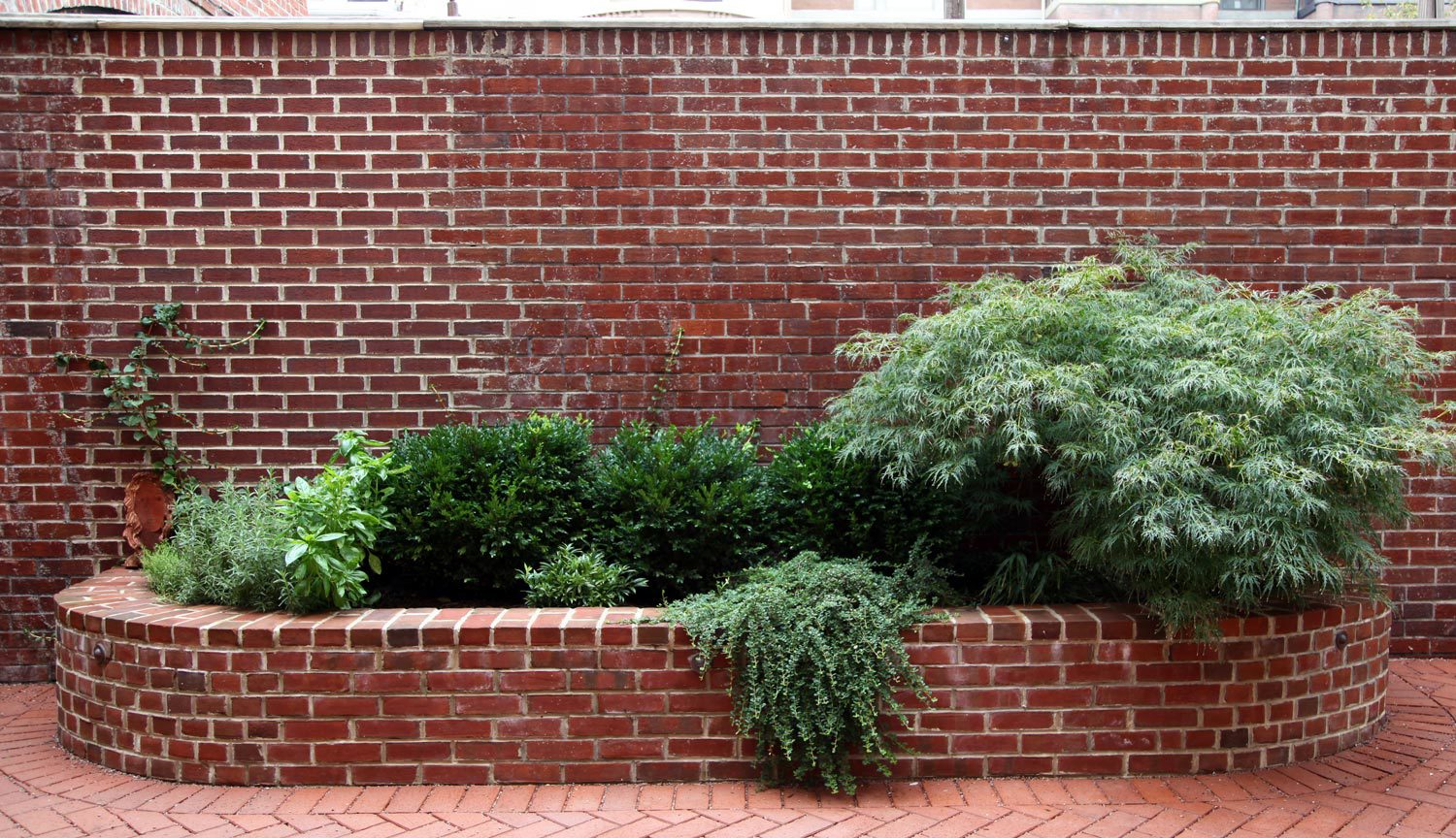 Project Location:  Washington, DC (Logan Circle)  Completion:  Winter 2010  General Contractor:  Redux Garden & Home  Primary Material Palette:  permeable clay pavers, black granite (fountain), antique granite (planters), ipe, river rock, stainless steel, aluminum sculptures, western red cedar trellis  Photos By:  Moody Landscape Architecture