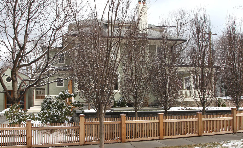 Project Location:  Washington, DC (Chevy Chase)  Completion:  Fall 2013  General Contractor:  Redux Garden & Home  Project Architect:  E/L Studio (garage design)  Primary Material Palette:  granite cobblestones, bluestone, Port Deposit granite, western red cedar, copper  Photos By:  Moody Landscape Architecture