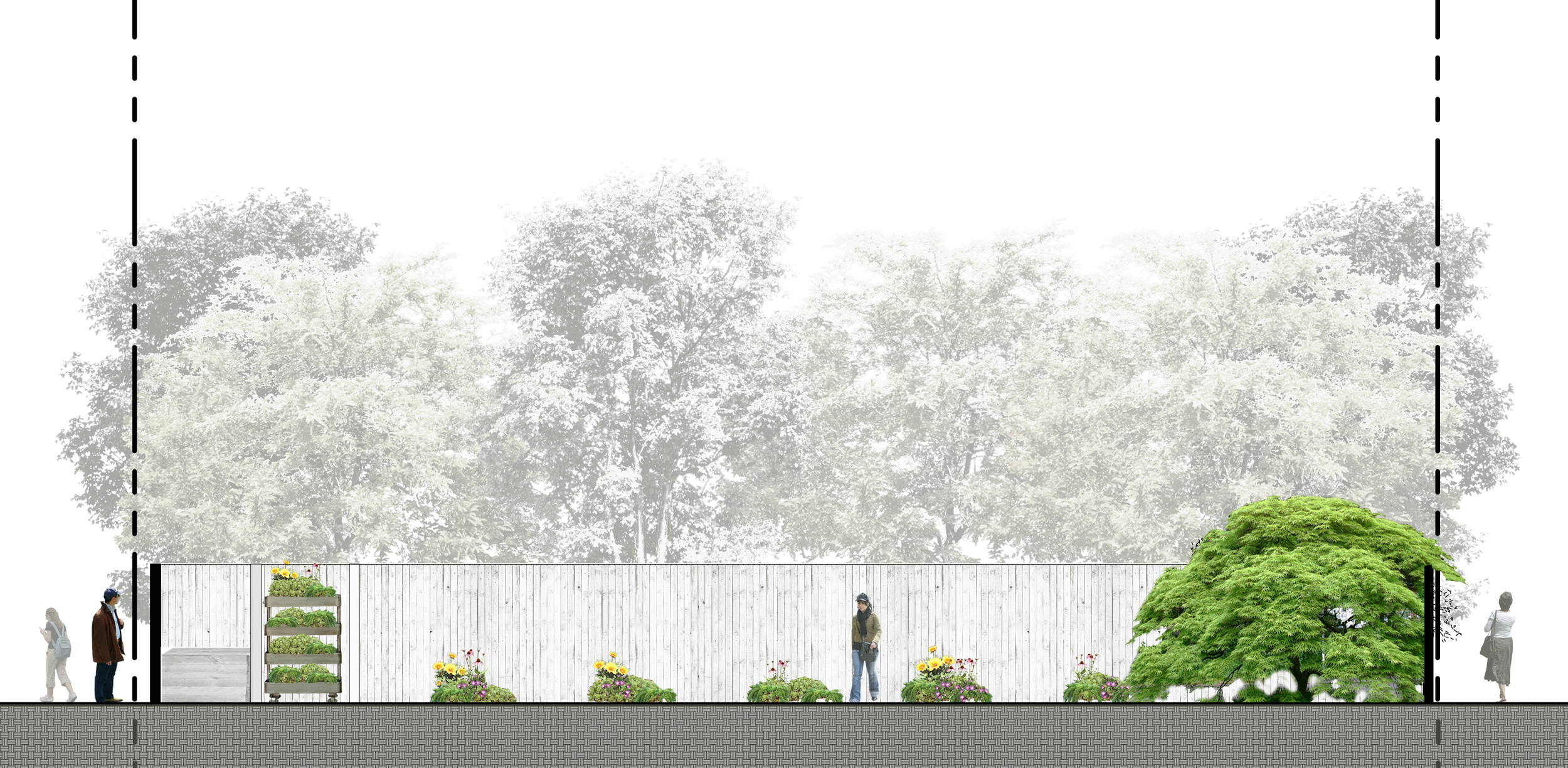 Project Location: Reford Gardens,Québec, Canada  Submission: November 2014  Renderings By: Moody Landscape Architecture