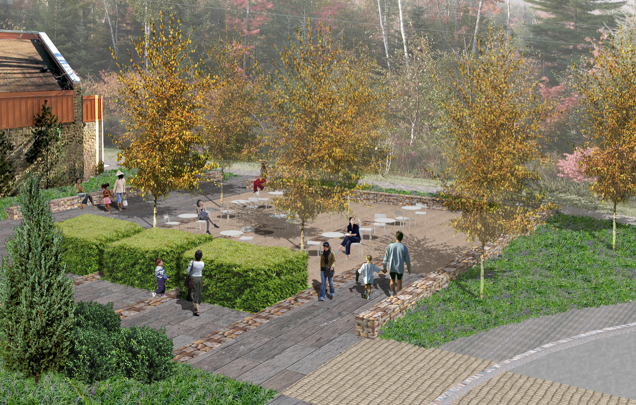 Project Location: Wheaton, MD  Completion: Under Construction  Images By: Moody Landscape Architecture