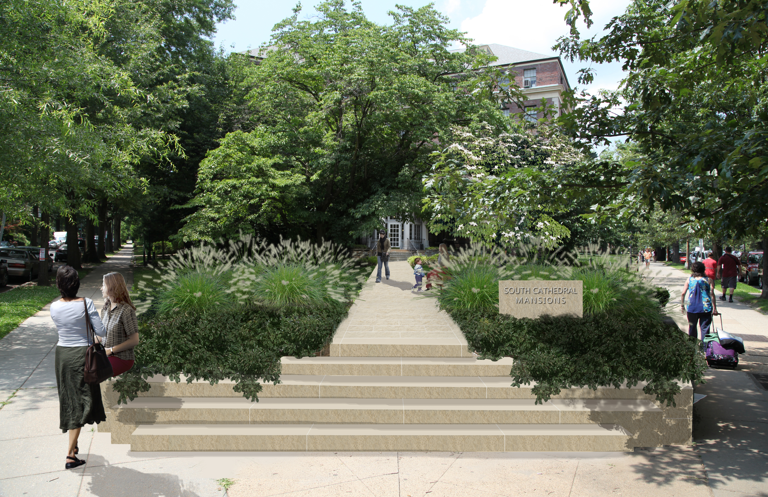 Project Location: Washington, DC (Woodley Park)  Completion: Under Construction  Images By: Moody Landscape Architecture