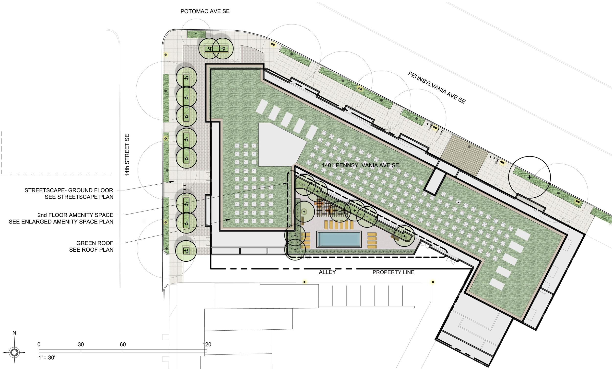 Project Location:  Washington, DC (Capitol Hill)   Project Developer:  CAS Riegler   Project Architect:  Antunovich Associates   Image By:  Moody Landscape Architecture
