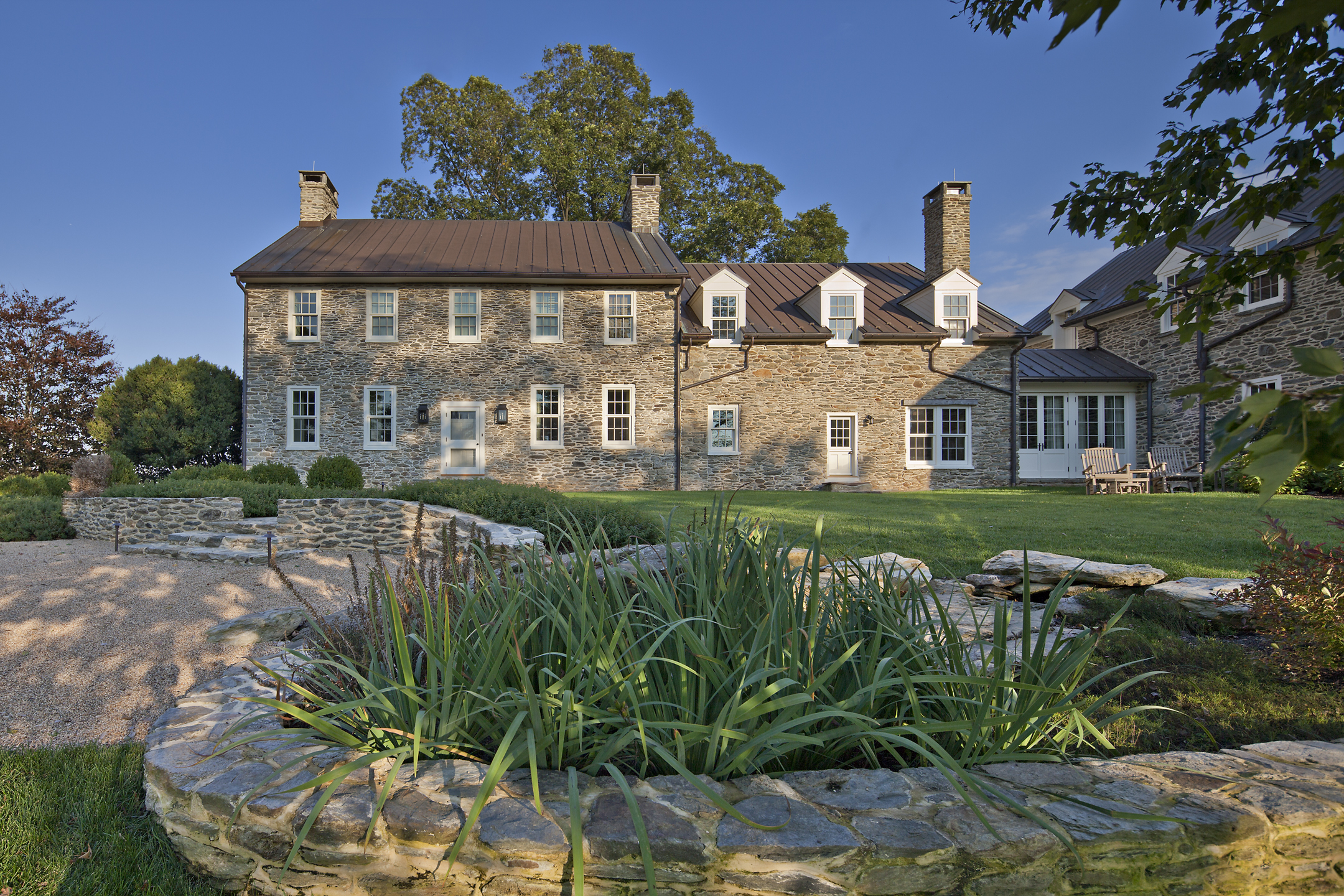 Project Location:  Middleburg, Virginia      Completion:   2011  General Contractor:   Potomac Valley Builders, Chapel Valley Landscape  Primary Material Palette:  fieldstone, black locust, cedar  Photos By:  Allen Russ  Awards:  Merit Award, American Society of Landscape Architects Maryland Chapter, 2014