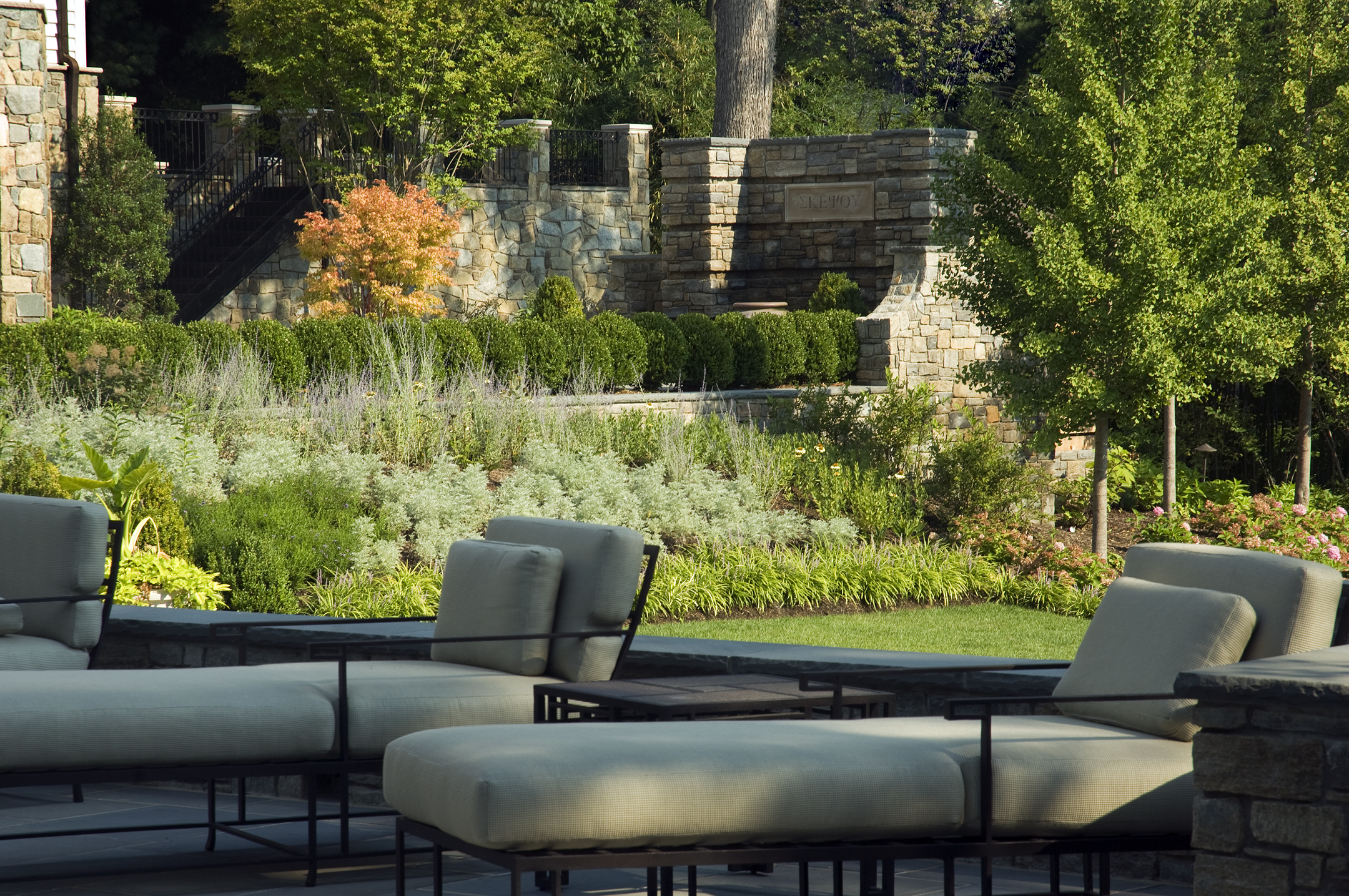 Project Location: McLean, Virginia  Completion: 2008  General Contractor: Tilson Group  Primary Material Palette: fieldstone, bluestone  Photos By: Allen Russ