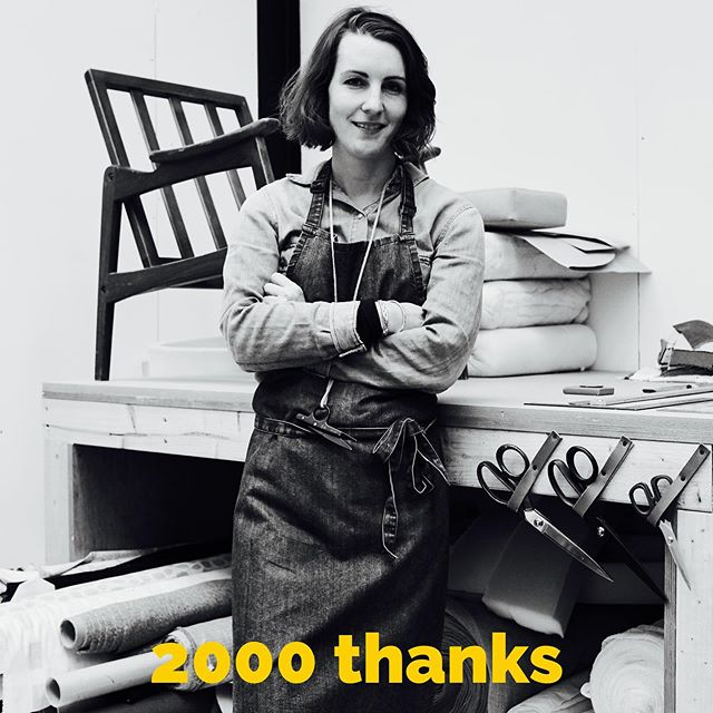 It's been a ride being an upholsterer so far. Having changed career in my early thirties and deciding to learn a new trade was the hardest thing I have ever done. Huge sacrifices were made and the road ahead is long and testing. But without these daily lessons and challenges, boy would it be boring. Hitting 2000 Instagram followers today is a mighty milestone and I wanted to thank you all for your awesome support and enthusiasm. It's a tough but beautiful trade and I couldn't do it without my ever patient friends and family. So thank you everyone, you're bloody brilliant!