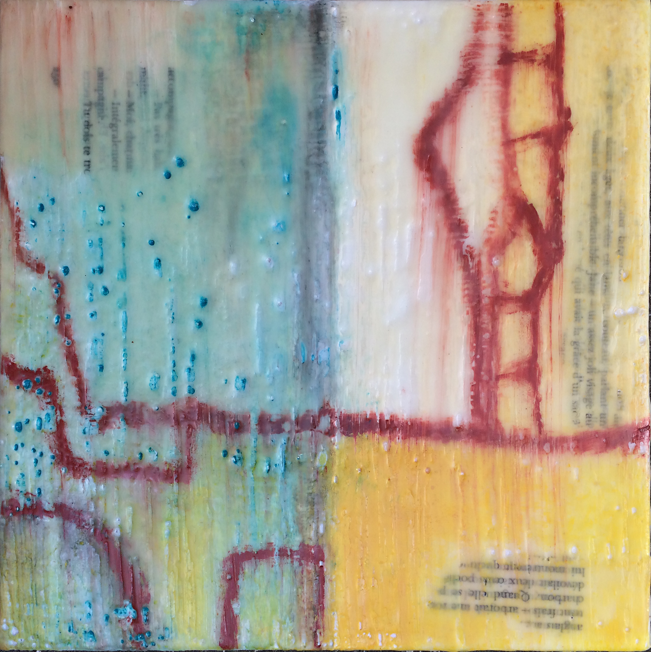 oil, beeswax and graphite  8 x 8 x 1.5 birchwood panel   S O L D