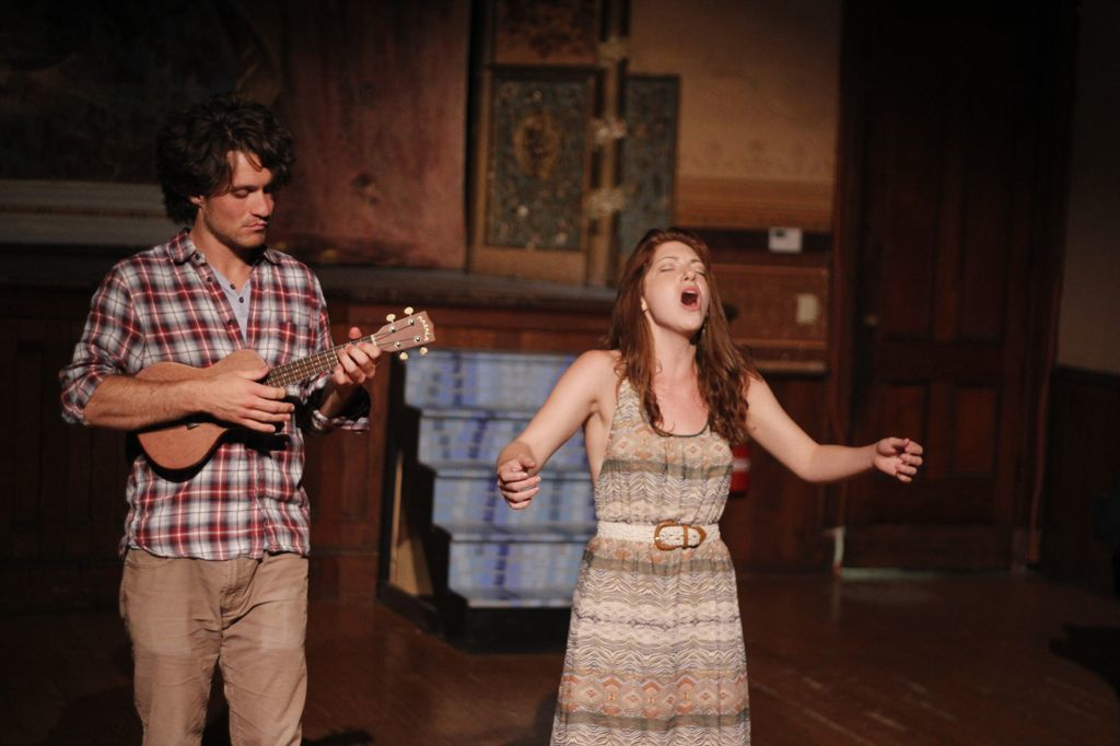 Photo Credit: Rachael Shane Photography  Singing At the Freight Project, Artists Residency. @Hubbard Hall with Paul Eddy
