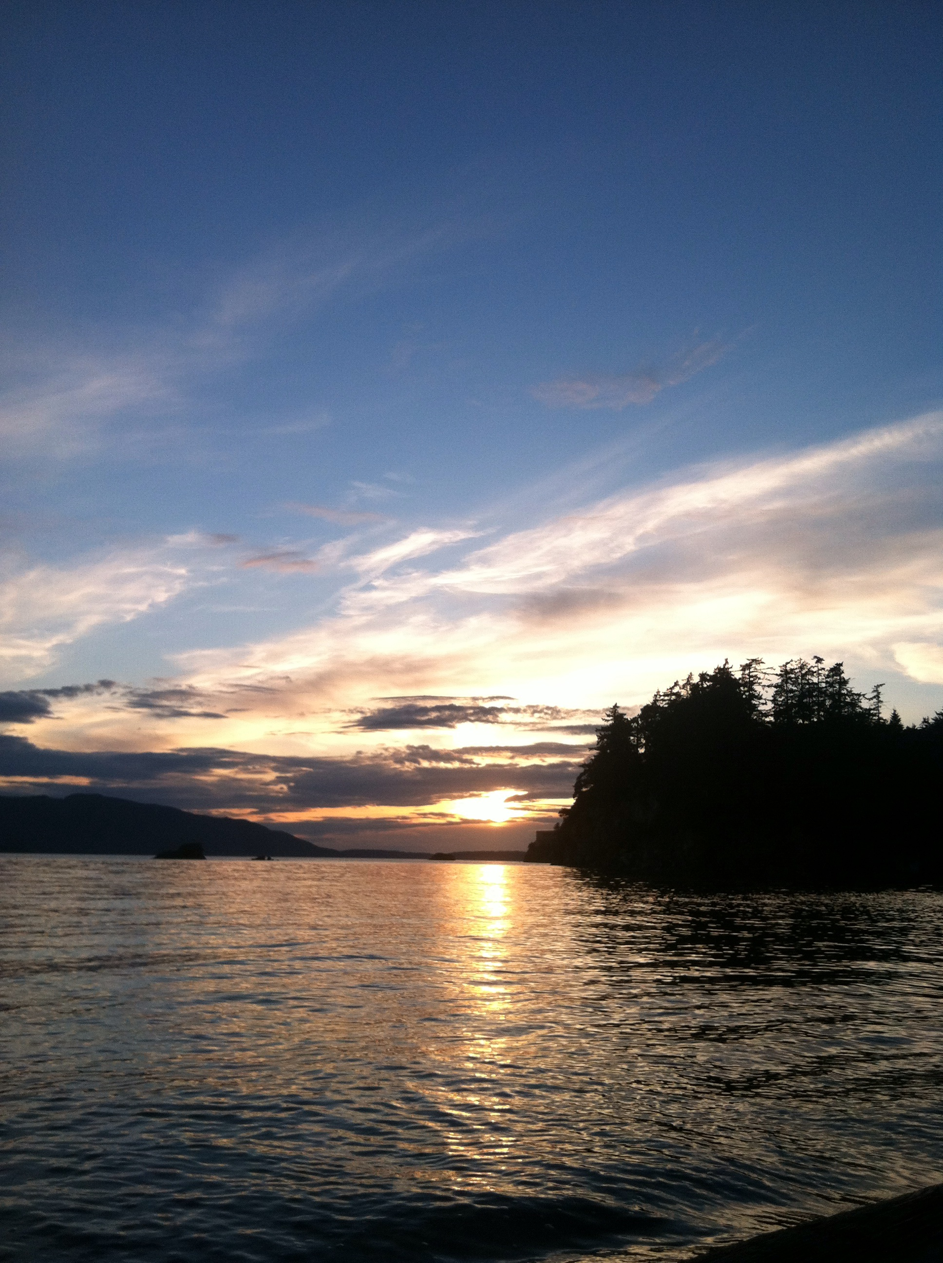 Sunset over the Puget Sound.