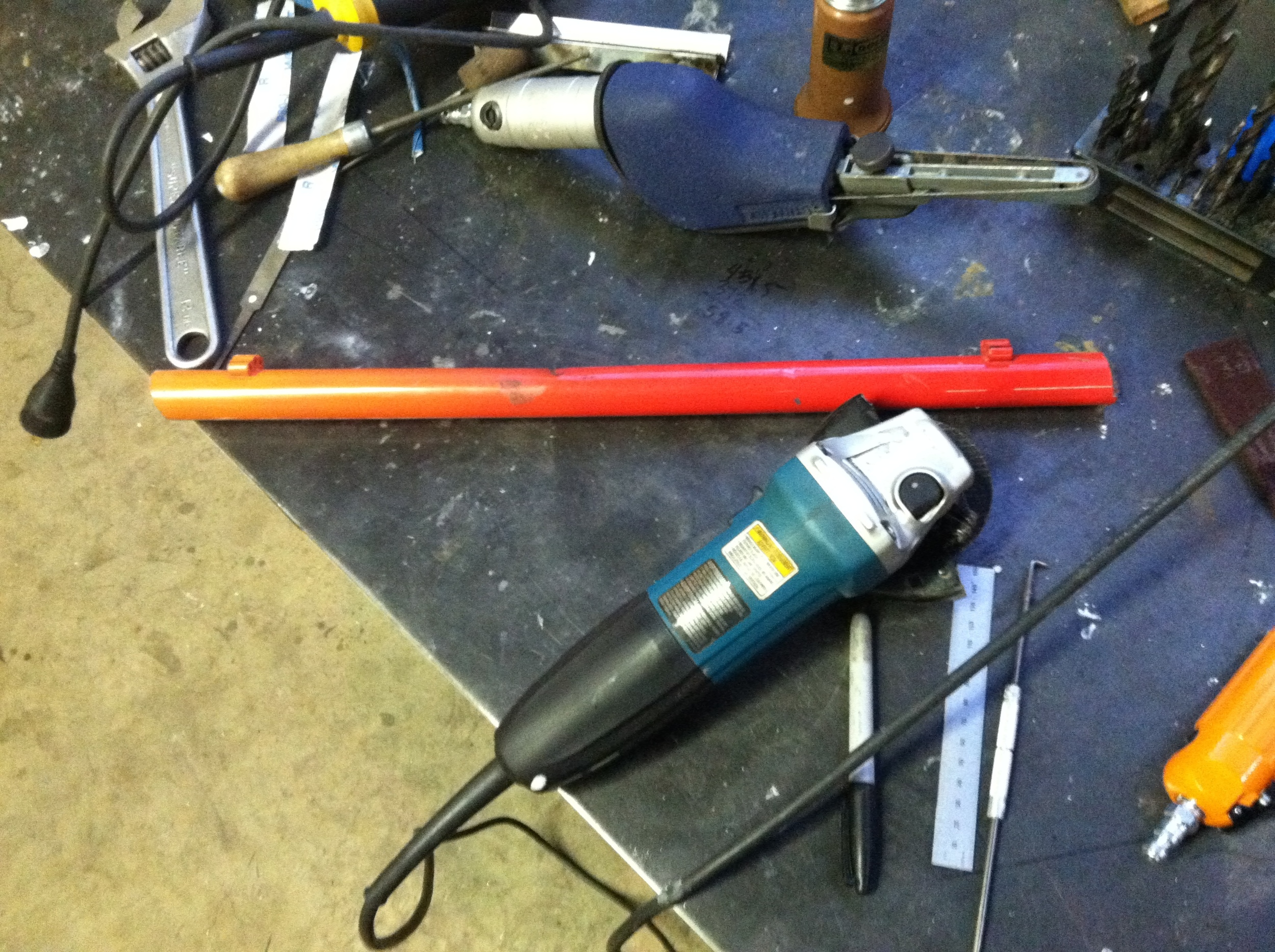 Quick work with the angle grinder.