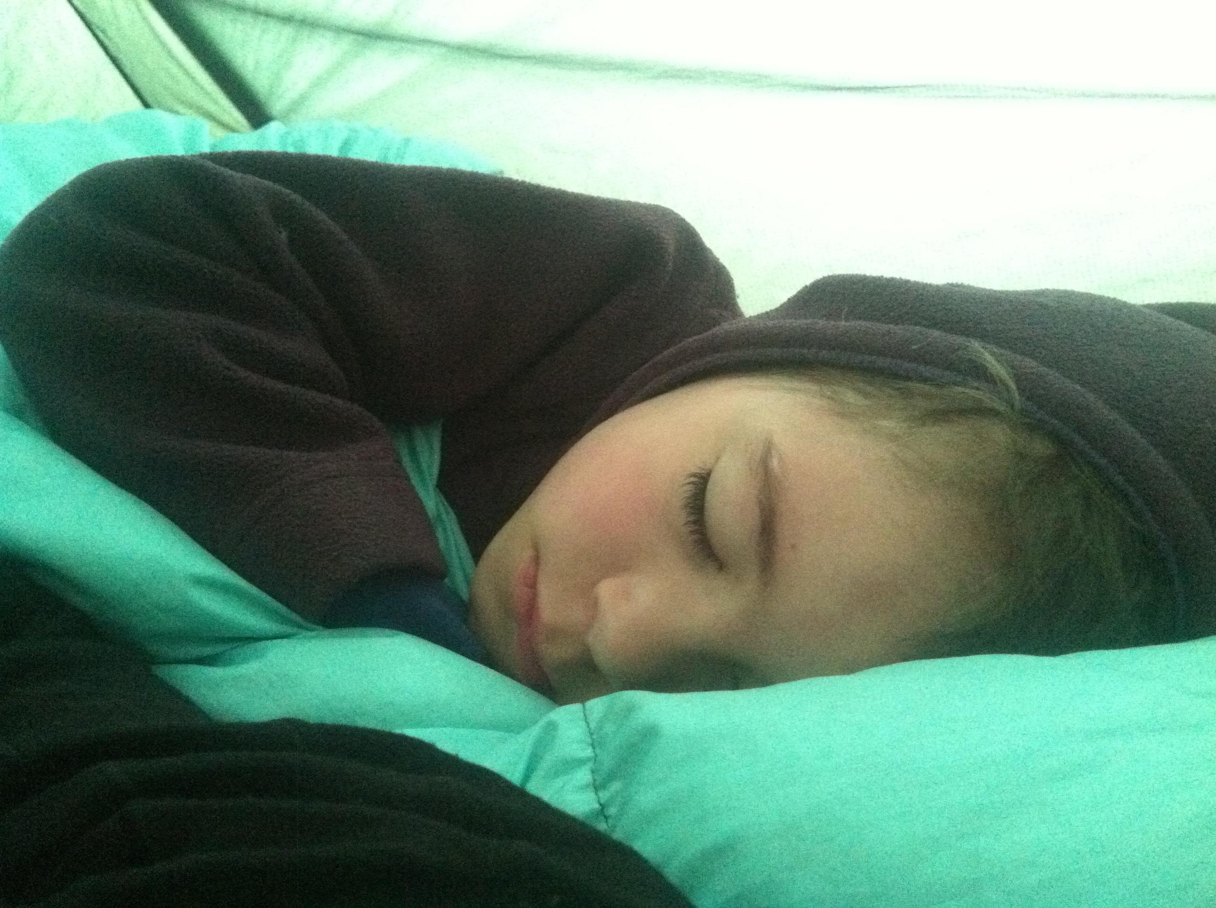 Last morning sleepytown kiddo.