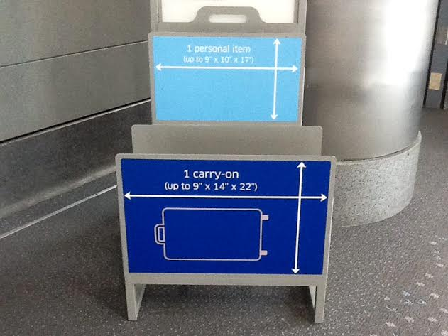 Make sure you check your airline's carry-on dimensions