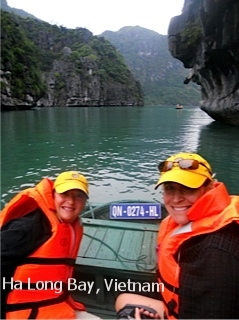 OWNER, cINDY AND HER fRIEND IN VIETNAM