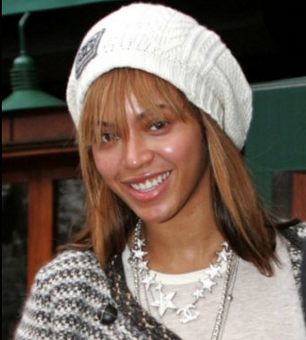 Beyonce with no makeup