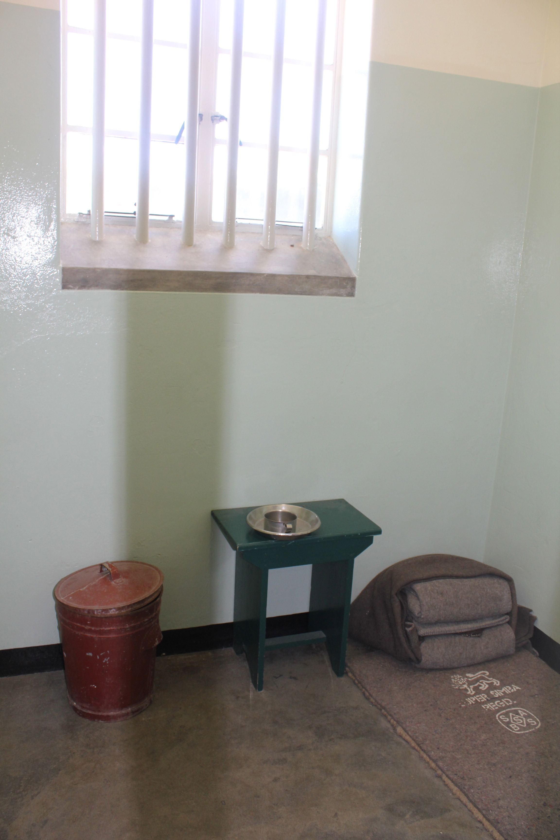 The picture I took of Nelson Mandela's prison cell