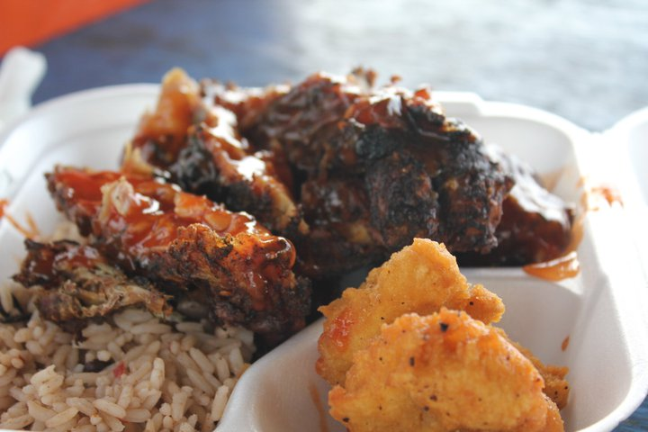 My Jerk Chicken plate from Grand Cayman