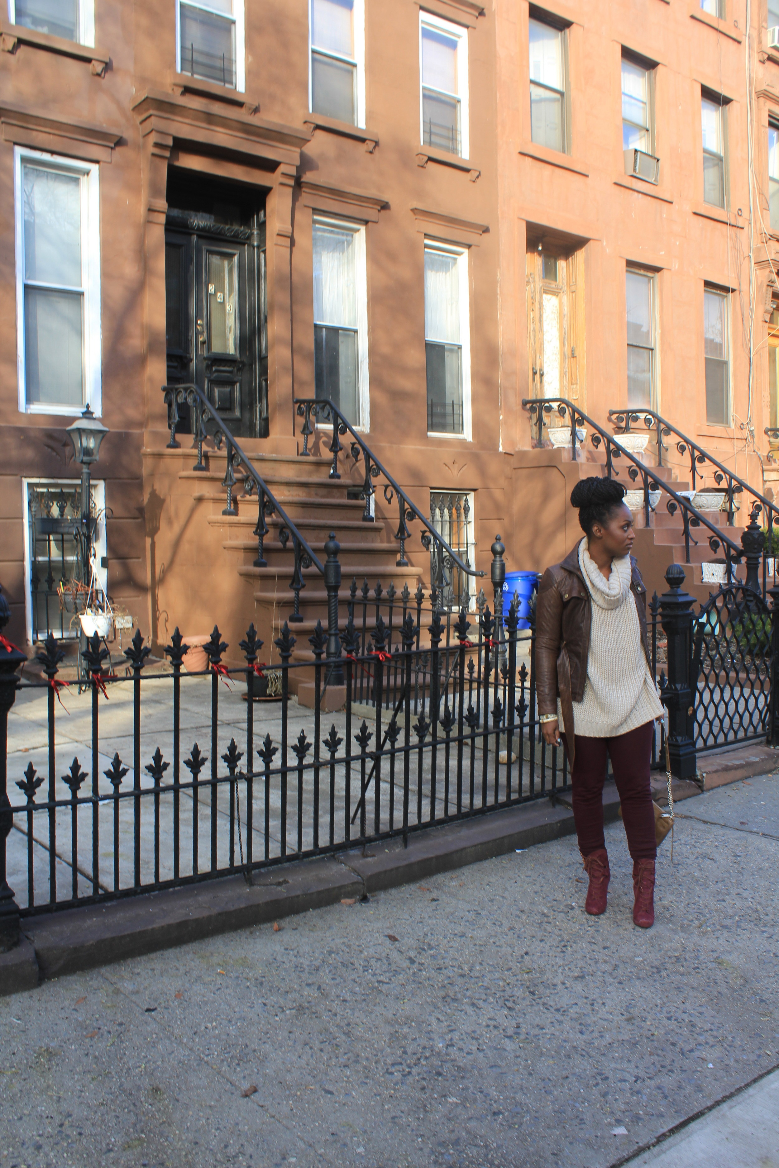 Me near some brownstones