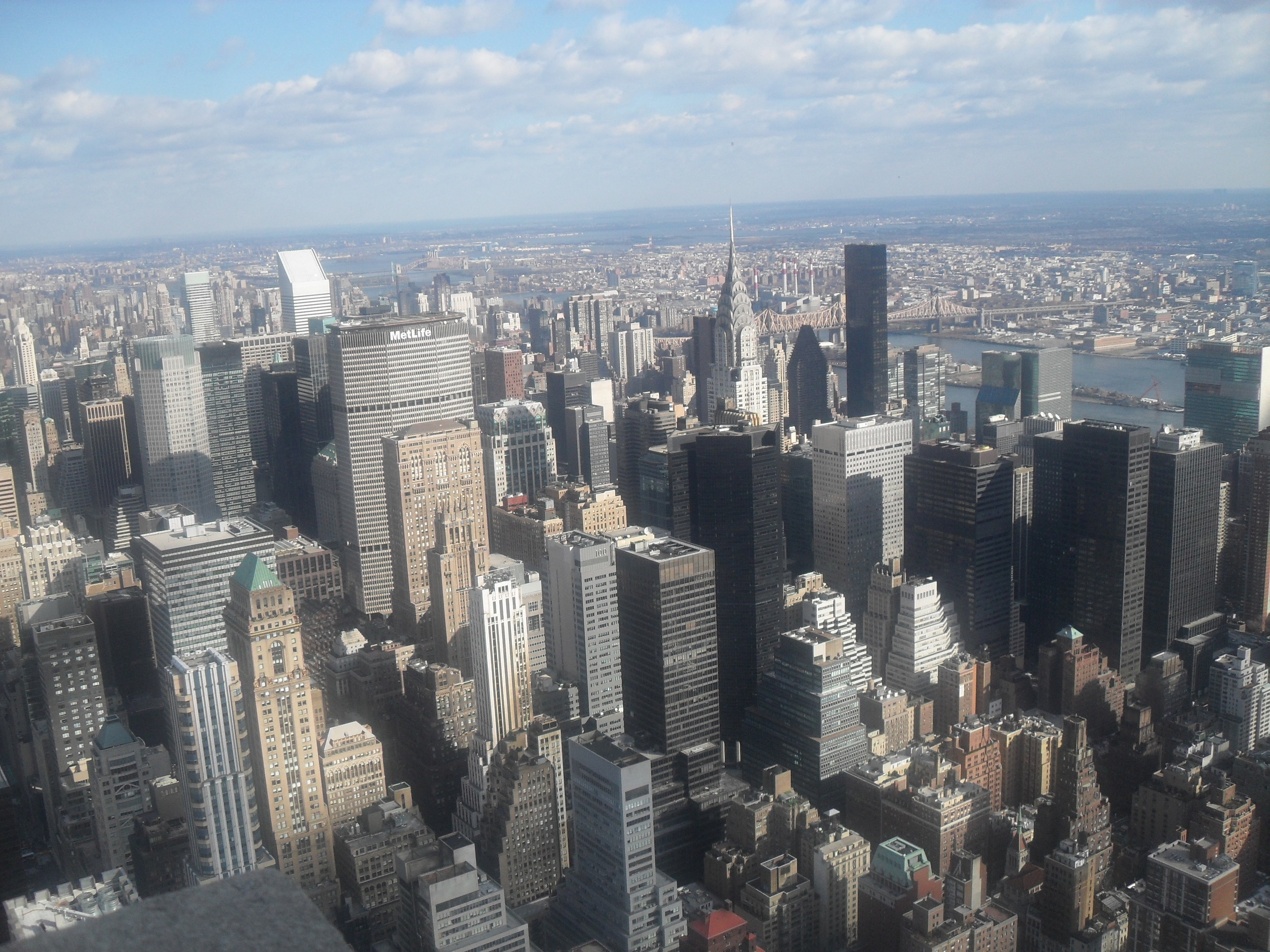 A picture of NYC from the Empire State Building